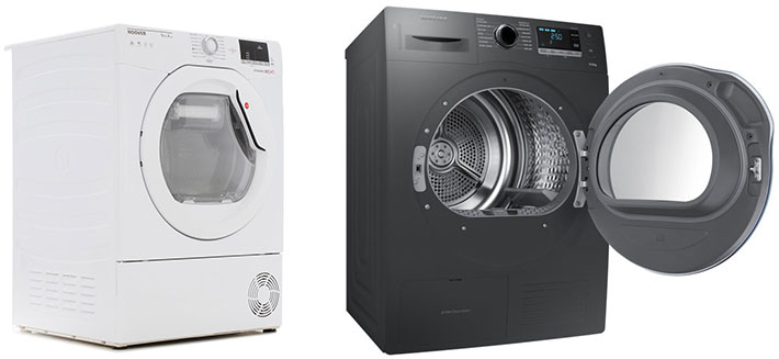 Efficient heat pump and dryer service